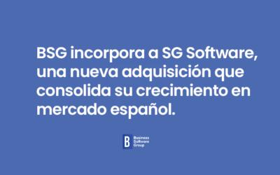 BSG incorpora a SG Software, una nueva adquisición que consolida su crecimiento en mercado español.